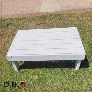 שולחן זולה לבן מלבן להשכרה